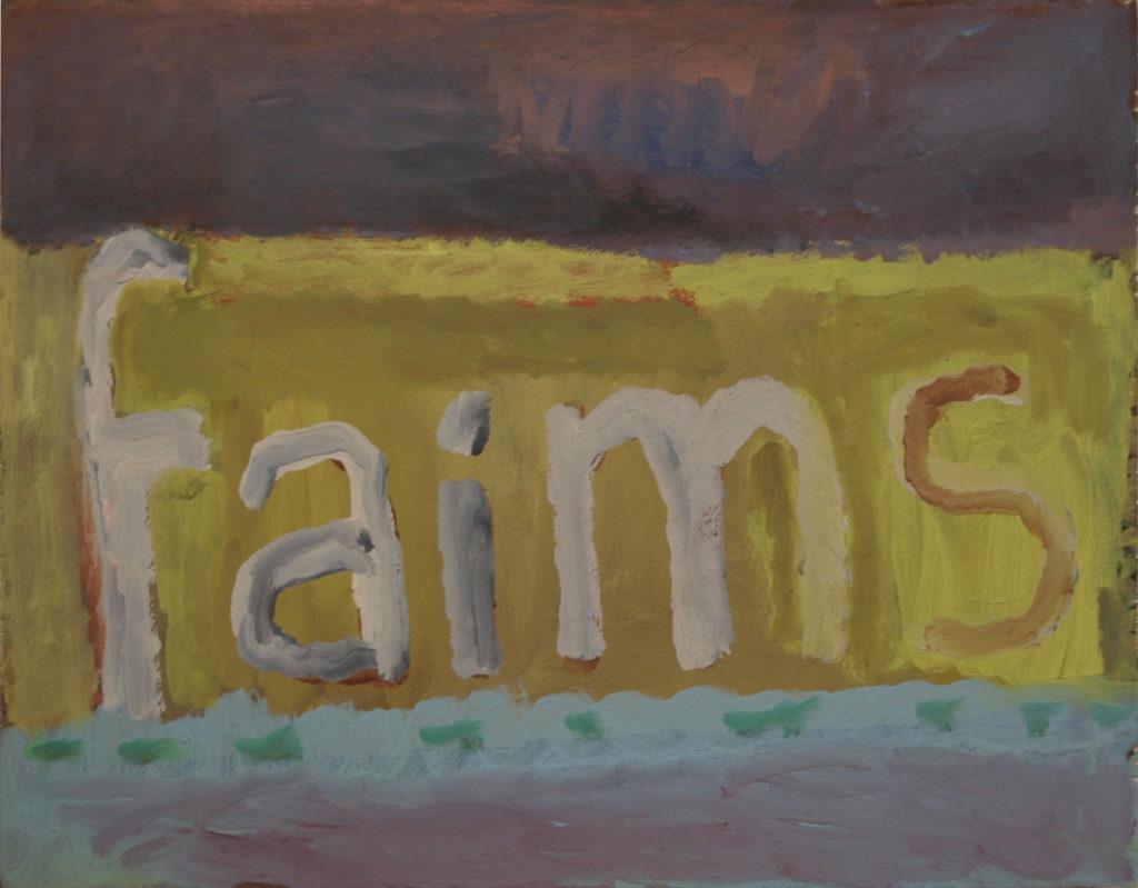 Faim, peinture